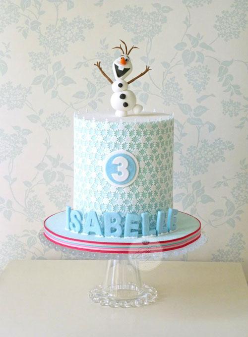 Foto della torta di Frozen n.42