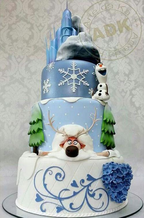 Foto della torta di Frozen n.43