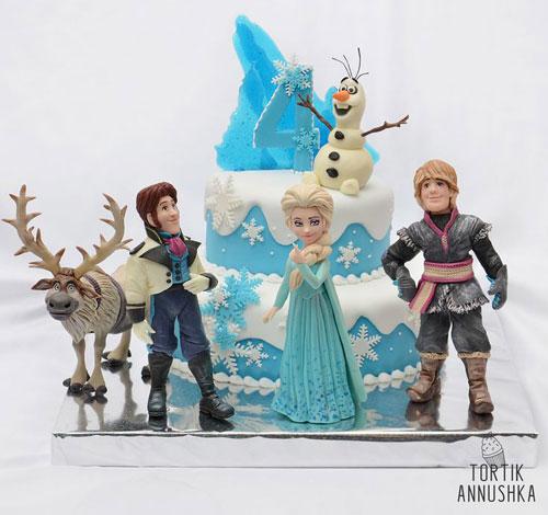 Foto della torta di Frozen n.44