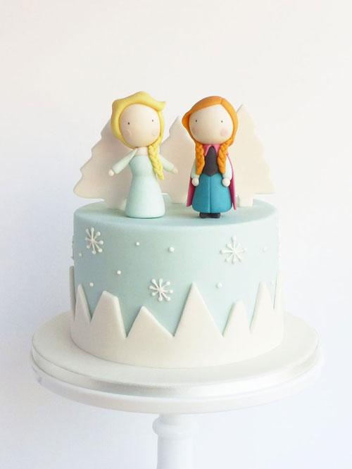 Foto della torta di Frozen n.45