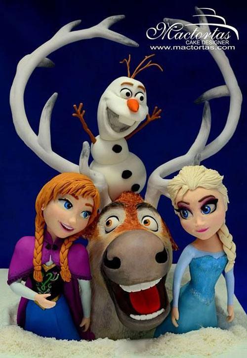 Foto della torta di Frozen n.46