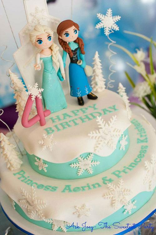 Foto della torta di Frozen n.47