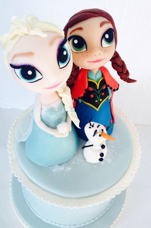 Foto della torta di Frozen n.49