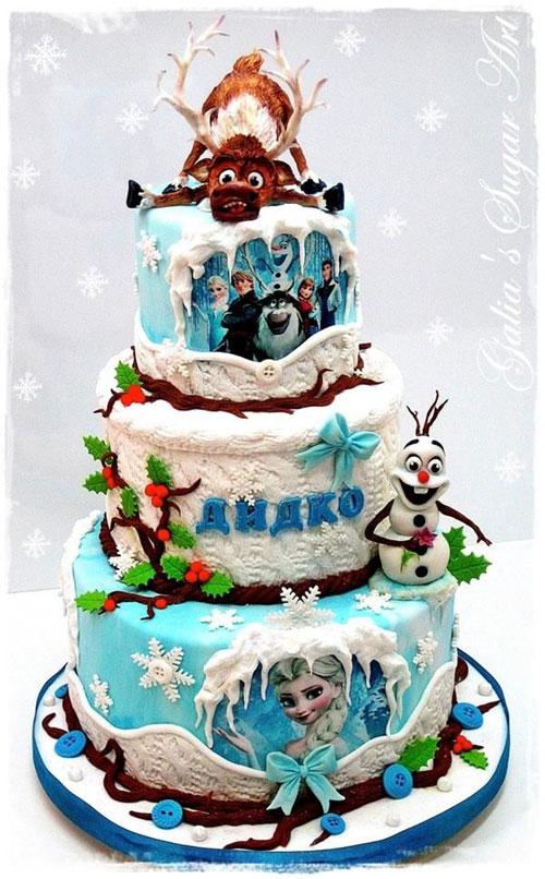 Foto della torta di Frozen n.50