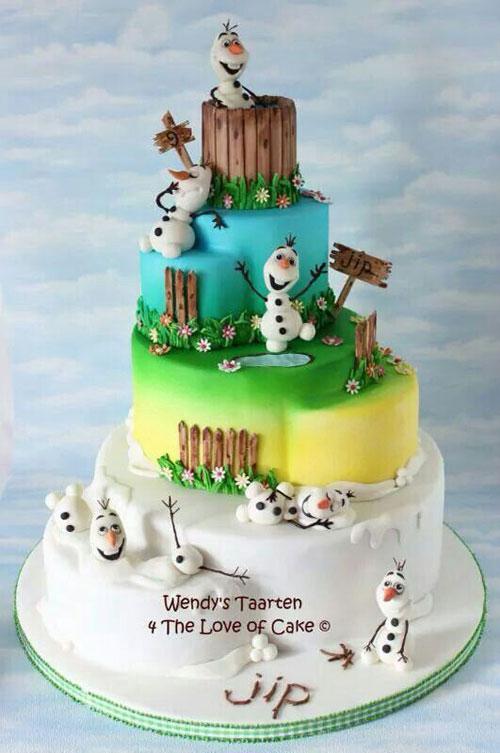 Foto della torta di Frozen n.51