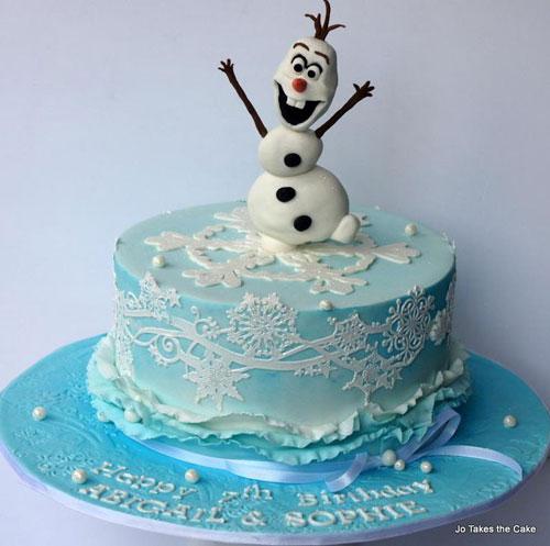 Foto della torta di Frozen n.52