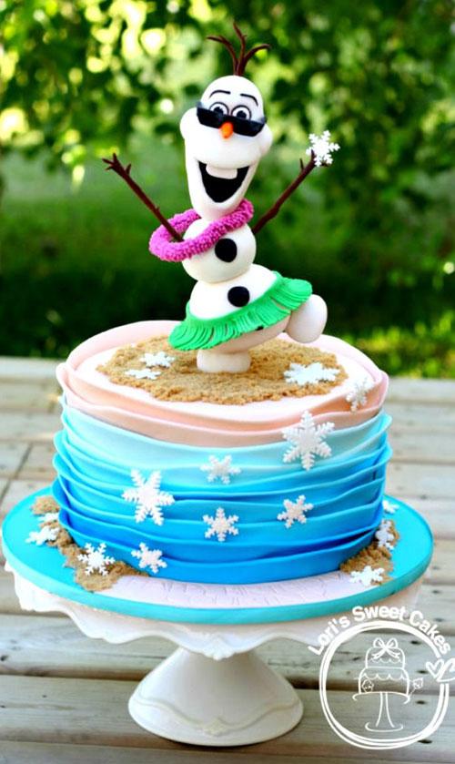 Foto della torta di Frozen n.53