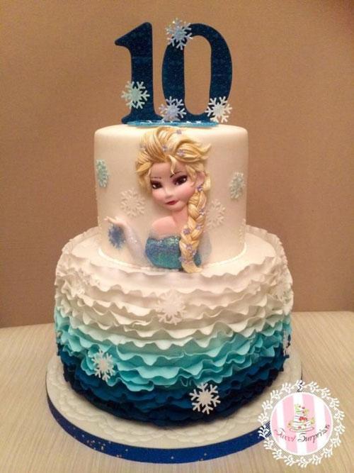Foto della torta di Frozen n.54