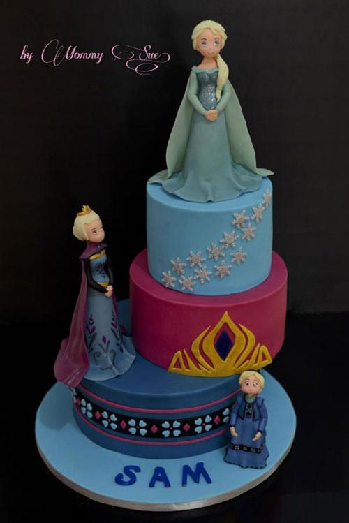 Foto della torta di Frozen n.55