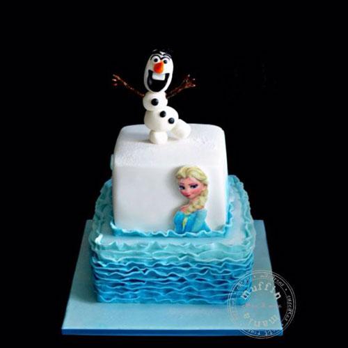 Foto della torta di Frozen n.57