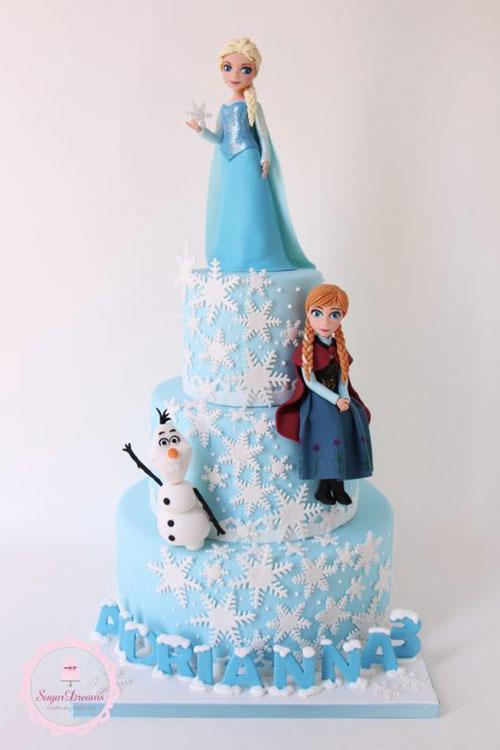 Foto della torta di Frozen n.58