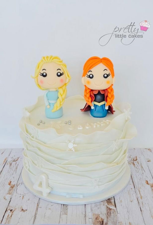 Foto della torta di Frozen n.61