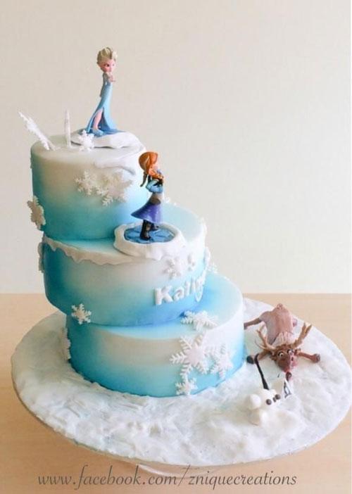 Foto della torta di Frozen n.63