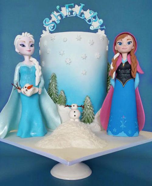 Foto della torta di Frozen n.64
