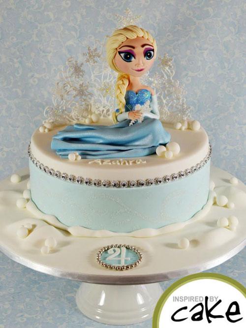 Foto della torta di Frozen n.65