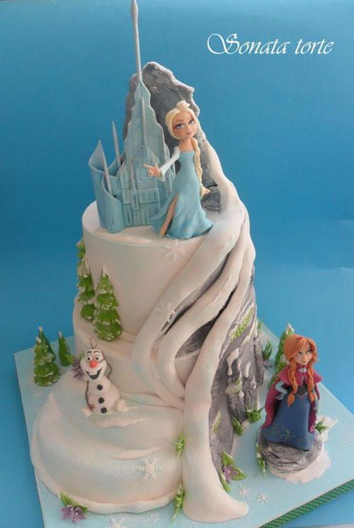Foto della torta di Frozen n.66