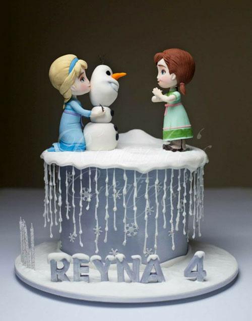 Foto della torta di Frozen n.67