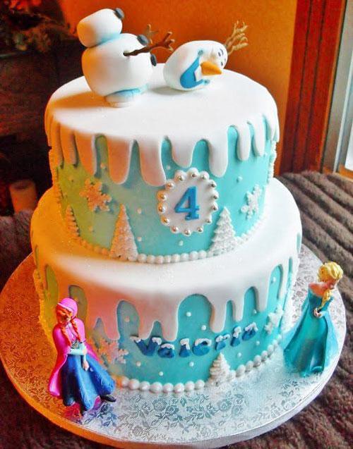 Foto della torta di Frozen n.68