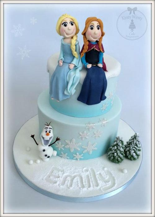 Foto della torta di Frozen n.70