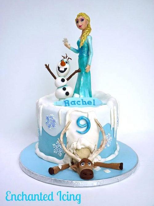 Foto della torta di Frozen n.71