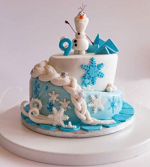 Foto della torta di Frozen n.73