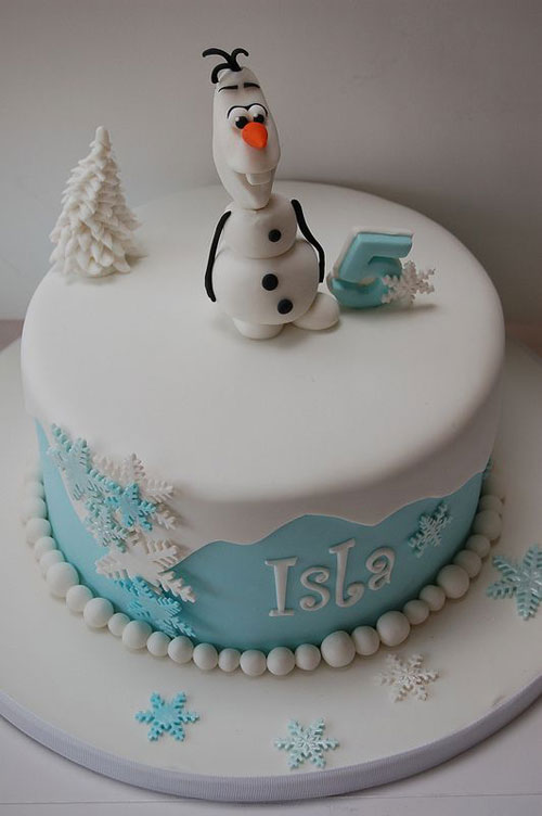 Foto della torta di Frozen n.74