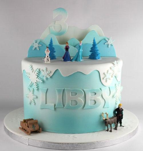 Foto della torta di Frozen n.75