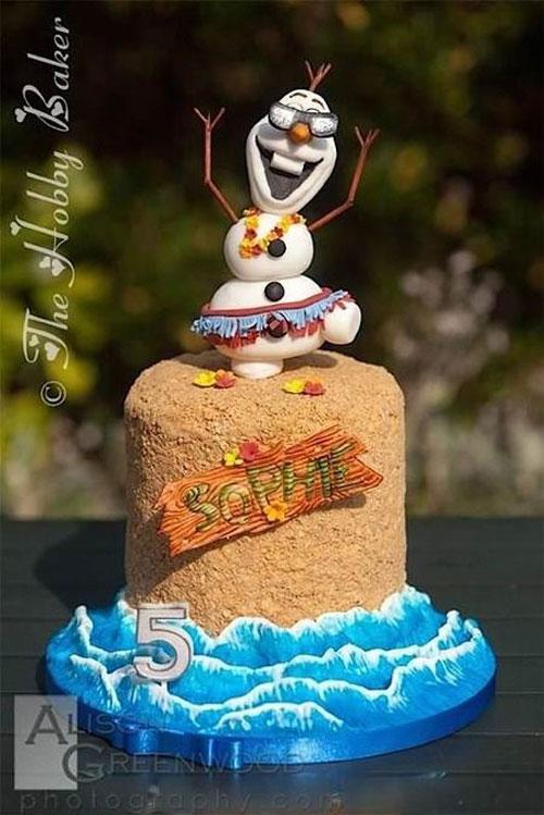 Foto della torta di Frozen n.76