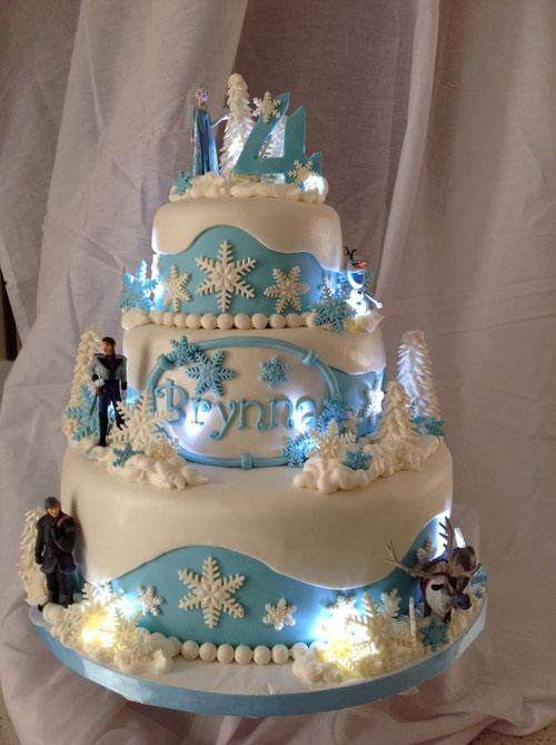 Foto della torta di Frozen n.78
