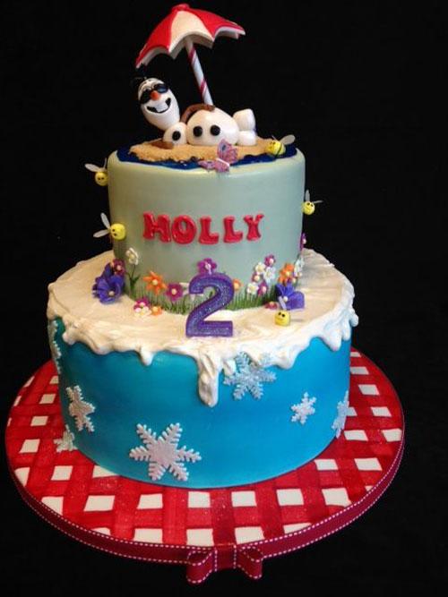 Foto della torta di Frozen n.81