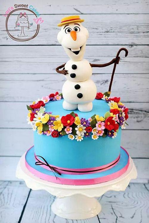 Foto della torta di Frozen n.82