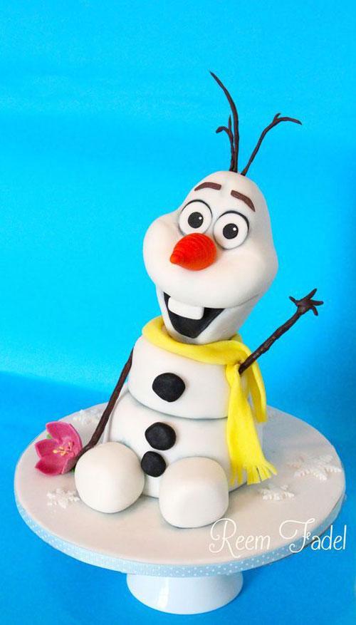 Foto della torta di Frozen n.83
