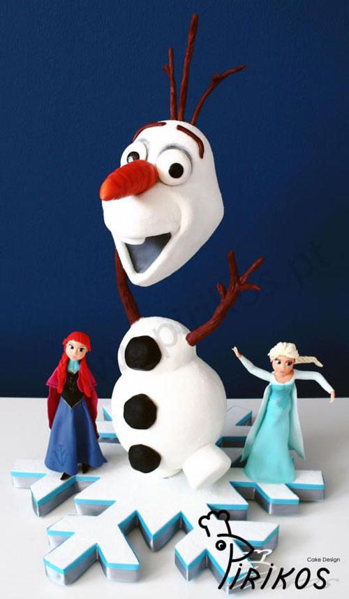 Foto della torta di Frozen n.84