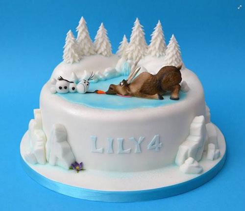 Foto della torta di Frozen n.85