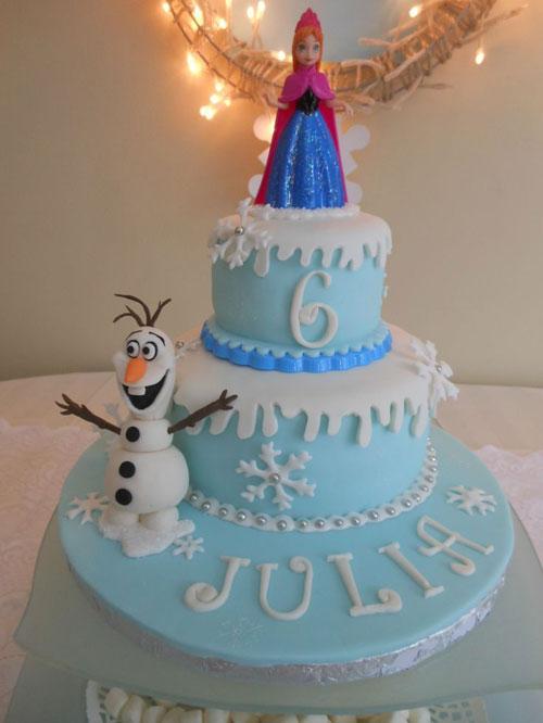 Foto della torta di Frozen n.86