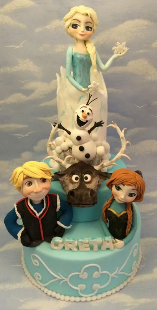 Foto della torta di Frozen n.88