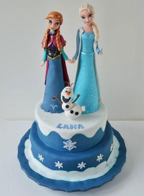 Foto della torta di Frozen n.89