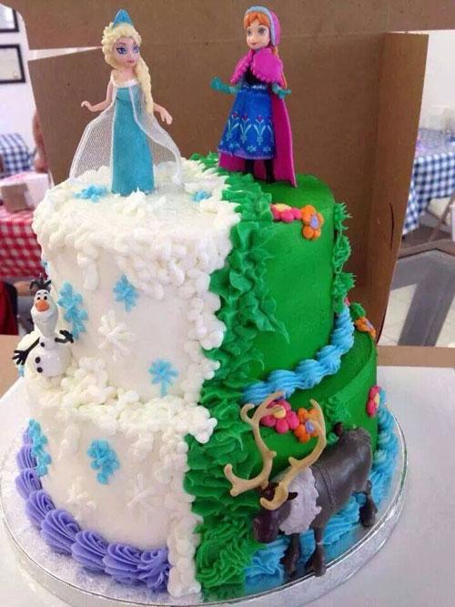 Foto della torta di Frozen n.90