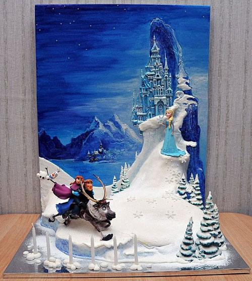 Foto della torta di Frozen n.95