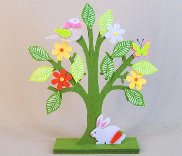 Come creare un albero di Pasqua in feltro
