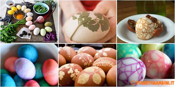 Metodi per decorare le uova naturalmente