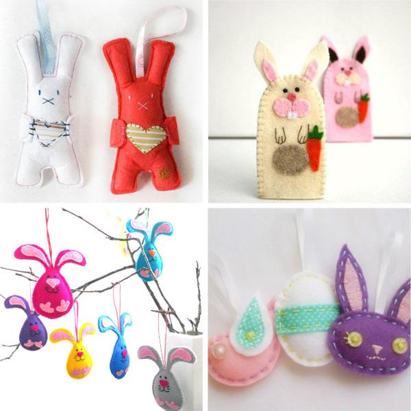 Coniglietti-Lavoretti-Feltro-Pasqua