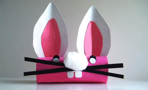 Come creare un coniglietto rosa con rotoli di carta igienica