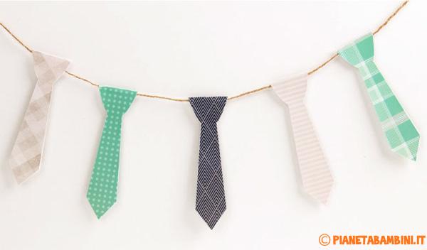 Come creare uno striscione con le cravatte