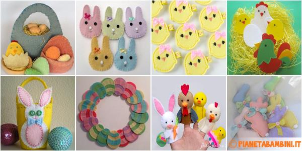 Idee per creare lavoretti in feltro per Pasqua