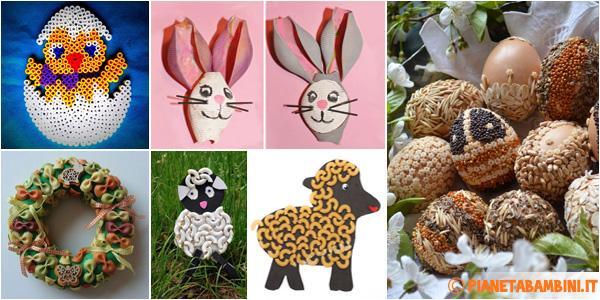 Idee per lavoretti di Pasqua da creare con la pasta