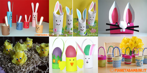 Idee per creare lavoretti con rotoli di carta igienica ispirati alla Pasqua