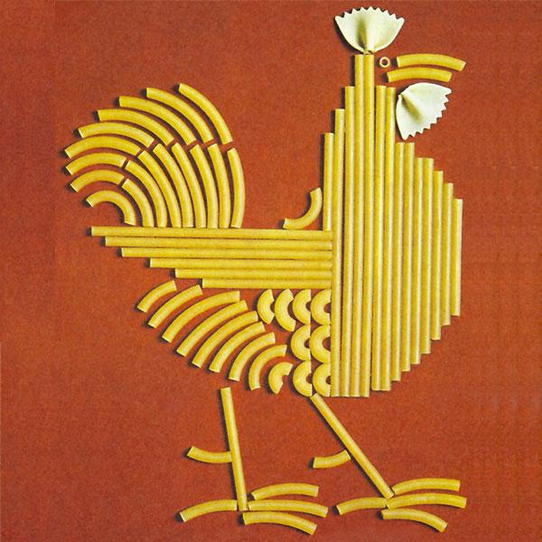 Come creare un gallo con la pasta secca