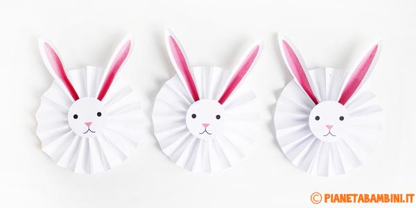 Il coniglietto-coccarda da creare con i bambini