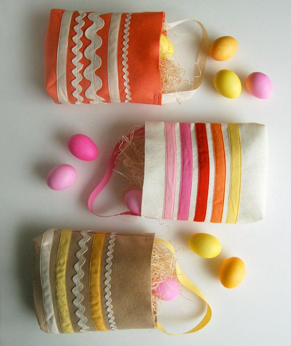 Sacchetti porta uova pasquali decorati